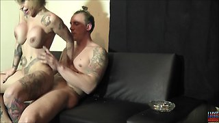 Tattooed Gina Snake is a petite chick craving a nasty fuck