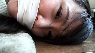 Beautiful Japanese schoolgirl learns a lesson in bondage