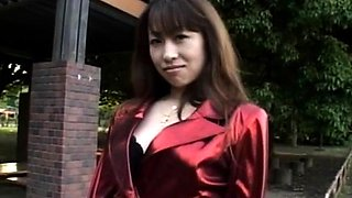 Needy young japanese beauty flashing milk shakes before sex