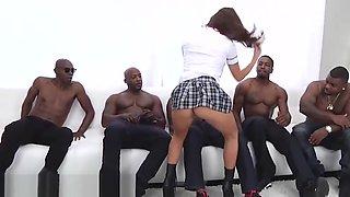 School Girl Keisha Grey Puts In Work Hot Rough BBC Gangbang