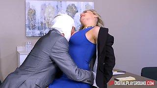 All office workers spy on boss fucking sexy secretary Natasha Nice