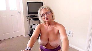 British big natural tits mature hot blowjob