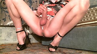 stroking the clitoris naked legs spread 2
