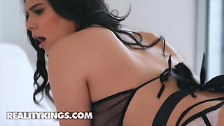 Sexy Latina Maid Violet Starr Filled By a Huge Black Cock