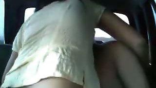 Naughty girlfriend hardest fucking in the car