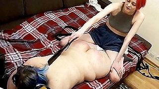 BBW Babe in Lesbian BDSM Domination Action! (Hidden Cam)