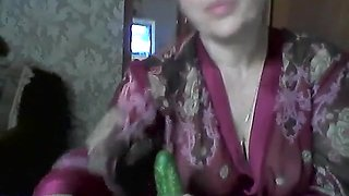 Popular European mature mother Elena perform on skype