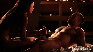 Romantic candle light sex with French seductress Cassie Del Isla