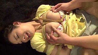 Raunchy fisting action involving sweet Sakuno Kanna