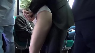 japanese beautiful woman on bus