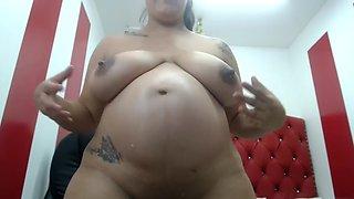 Lorena Vera pregnant milk her huge boobs