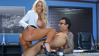 blonde busty milf fucks the it guy