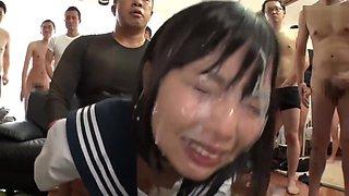 Cute Japanese Girl Get Bukkake 3