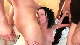 Brutal BDSM Double Penetration Gangbang! vol.68