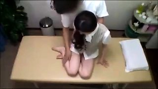 Japanese teen in schoolgirl uniform stripped and fucked