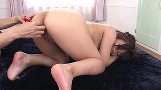 Amazing Japanese whore Aika Hoshino in Hottest JAV uncensored Blowjob clip