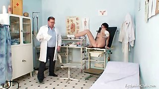 Busty goddess wicked gyno doctor exam