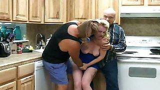 Violating the Blonde Slave