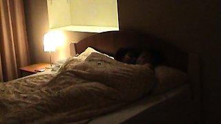 Bedroom sex with skinny teen