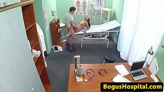 Euro nurse fucking real patient to get sperm