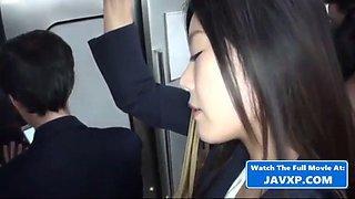 Asian milfs on the public bus