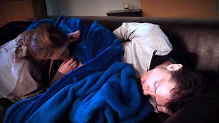Brunette teen babe gets banged by her stepbrother