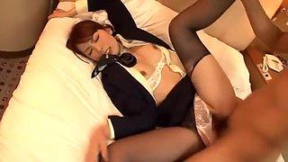 Crazy Japanese whore Yui Hatano in Incredible Car, Stockings/Pansuto JAV scene