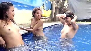 Three gorgeous young babes exploring their lesbian desires