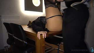 New Years Eve Business Meeting - Boss Fucks Secretary On The Table