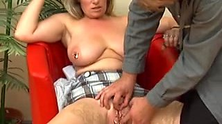 Pierced German mother I'd like to fuck with lots of rings in her fur pie