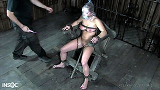 Submissive slut Dia Zerva gets her pussy and twat punished in the BDSM room