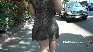 Sexy Ashley Riders public flashing and outdoor babe exposing tits and pussy to voyeur watchers for exhibitionist fun