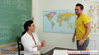 A young man hooks up with his busty English MILF teacher Phoenix Marie