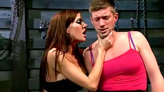 Fetish mistress joins a bisex couple