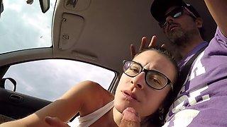 Big blowjob in the car
