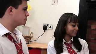 Dominant school teacher Stephanie Blows humiliate guy