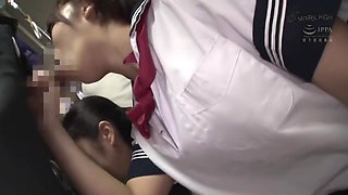 JAV - schoolgirls pairing up on trains... still not safe! ♥