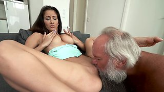 Passionate old and young porn with Albert and Darcia