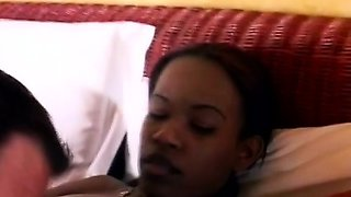 This petite African beauty gets her sweet pussy banged in a