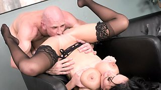 Big titty beauty takes his dick to the hilt over and over