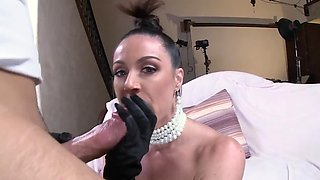 Glamour babe Kendra Lust is oiled up and banged hard