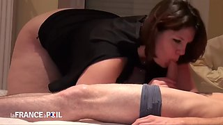 French bbw milf claire serves daddy and his son