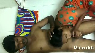Indian couple having an amazing time on the floor together