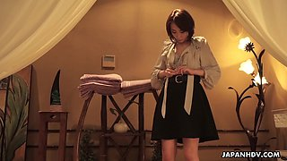 Erotic oily massage for Japanese lady Aya Kisaki ends up with cunnilingus