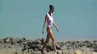 Nude Beach - Big Boob Pierced Brunette - Pt 03
