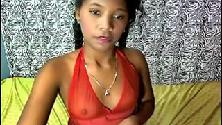 Black-skinned brazillian legal age teenager