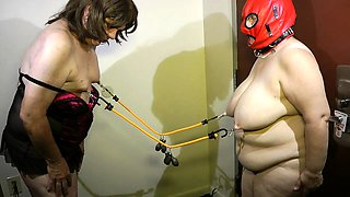 Kinky mature lovers play out their bondage fetish fantasy