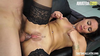 AMATEUR EURO - Italian MILF Debby Loves Anal Sex With Daddy
