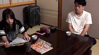 Aki Tajima Stretching That Hairy Japanese Teen Pussy