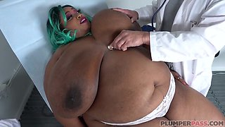 Fat, black slut, Cotton Candi got down and dirty with Dr. Lawless in his office